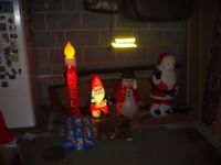 JOB LOT OF CHRISTMAS DECORATIONS INDOOR AND OUTDOOR USE