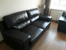 Dark brown leather 3/2/1 suite