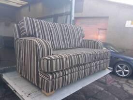 Next stripey 2 seater sofa