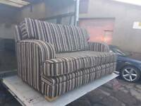 Next stripey 2 seater sofa