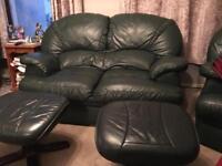 Dark Green Leather Suite