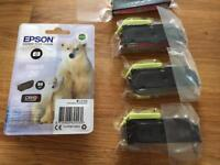 Genuine Epson ink cartridges for Expression Premium XP WILL POST Save over £25