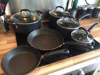 Tefal 10pc and Starfrit Stainless Steel 10pc Cookware