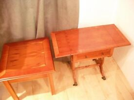 Telephone table with matching side table For Sale
