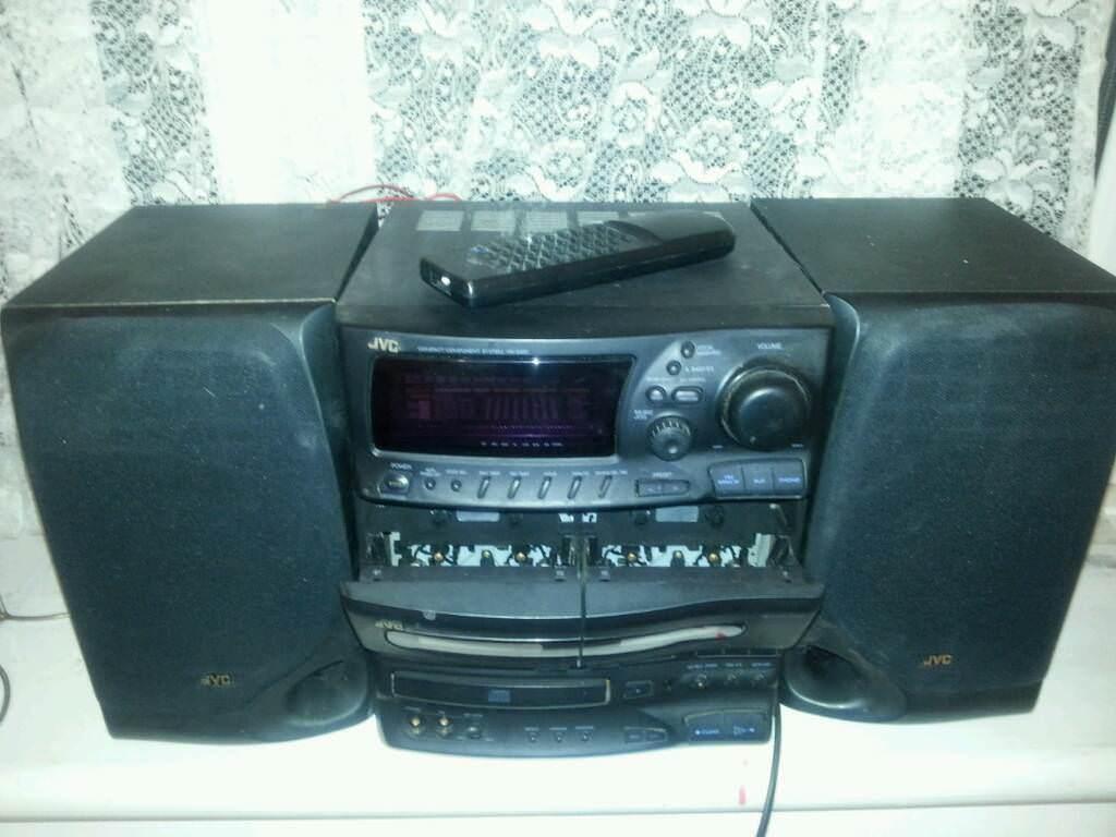 jvc mini hifi sound system with remote control in mile. Black Bedroom Furniture Sets. Home Design Ideas