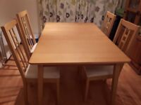 Ikea Extending Dining Table & Chairs