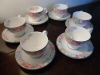 ROYAL ALBERT FONTEYN COFFEE SET INCLUDING TALL COFFEE POT - EXCELLENT CONDITION