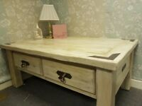 Large hand painted Shabby chic coffee table