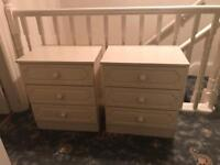 3 X bedside cabinets