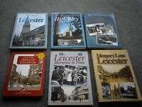 Collection of books on Leicester through the decades in excellent condition