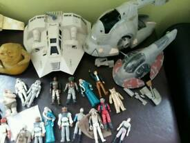Job lot of vintage star wars figures and ships