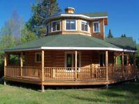 Magnifique Maison de Bois Rond