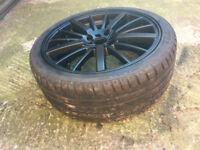 "Mitsubushi Saab 900 matt Black Alloy wheels 18"" inch x 7.5j 4x100 4x114.3 alloys wheel"