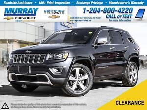 2016 Jeep Grand Cherokee Limited *Accident Free, Leather Heated