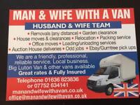 MAN AND WIFE WITH A VAN