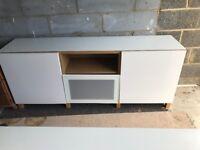 Ikea Besta white high Gloss Sideboard