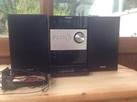 Sony music CD/iPod dock/radio