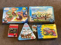 Children's Puzzle Collection - Thomas, Fireman Sam, Tractor and Pirates