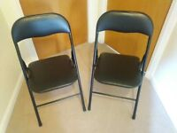 2 x padded folding chairs