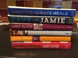 Set of Jamie Oliver cookbooks