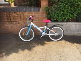 BTWIN girls bike - Blue, White and Pink