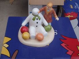 Coalport Snowman Figures - The Snowman - Soft Landing