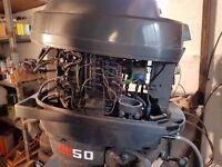 Mariner 50hp manual Pull start Outboard Spares or Repair