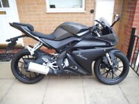 *** SOLD *** YAMAHA YZF R125 ( 14 REG ) MATT GREY / NEW SHAPE *** DELIVERY AVAILABLE ***