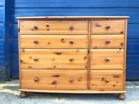 VINTAGE SOLID PINE CHEST OF DRAWERS £75 - ANTIQUE VINTAGE RETRO