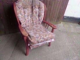 Armchair Country Style Padded Sofa Delivery Available £7