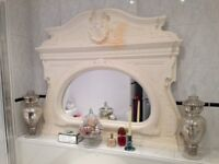 Gorgeous shabby chic or country house ornate large overmantle mirror REDUCED PRICE