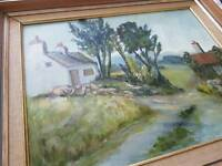 Countryside oil painting