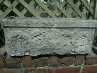 Archaic concrete planters
