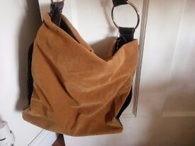 Tan Bucket Hobo Bag