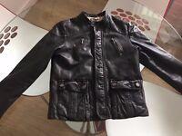 Roberto Cavalli Boys Leather Jacket Age 10