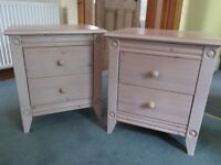 Pair of Ikea bedside cabinets for sale - limewashed effect