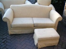 3 SEAT SOFA & FOOT STOOL, very good condition, very comfortable.