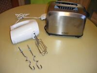 Russell Hobbs Toaster (Used) and hand mixer (New),