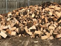 Hardwood firewood seasoned /logs £40 per ton bag or £100 per load =3 x ton dumpy bags.