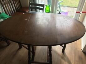 Solid Wood Antique Gate Leg Table