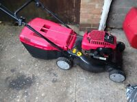 Mountfield self propelled petrol rotary lawn mower with grass box 4 stroke starts first time vgc