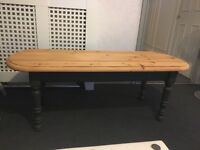 Solid Pine Coffee Table large oval shabby chic