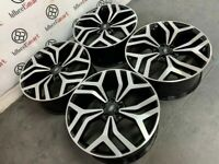 """NEW RANGE ROVER 22"""" STYLE ALLOY WHEELS -AVAILABLE WITH TYRES -GLOSS BLACK DIAMOND CUT"""