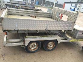 2.6 ton twin axle tipping trailer car trailer