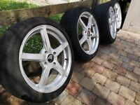 """4x108 / 4 x 108 Alloys 17"""" with 205/45/R17 tyres. Will fit FORD (incl Fiesta) / PEUGEOT / CITROEN"""