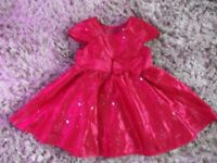 6-9 months gorgeous red sequin dress Brand new