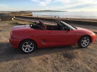 1997 Low Mileage Red MGF Convertible 1.8l in excellent condition