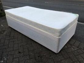 Single divan bed with mattress £40 delivered