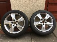 Honda Accord 17 inch alloy wheel / rim with winter tyre (2 available, plus 2 rims only)
