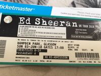 x2 seated Ed Sheeran tickets